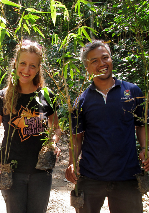 Rebekah with Pak Ketut Suwastika